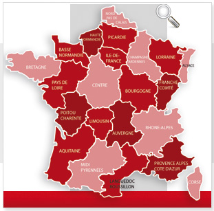 Carte de france cliquable